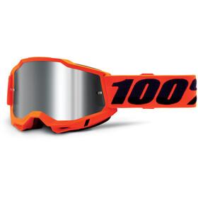 100% Accuri Anti-Fog Goggles Gen2, neon orange/mirror